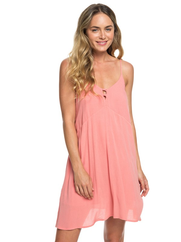 0 Full Bloom Strappy Dress Pink ERJWD03246 Roxy