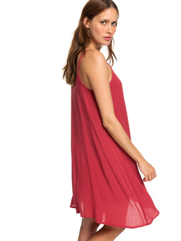 0 Full Bloom Strappy Dress Red ERJWD03246 Roxy