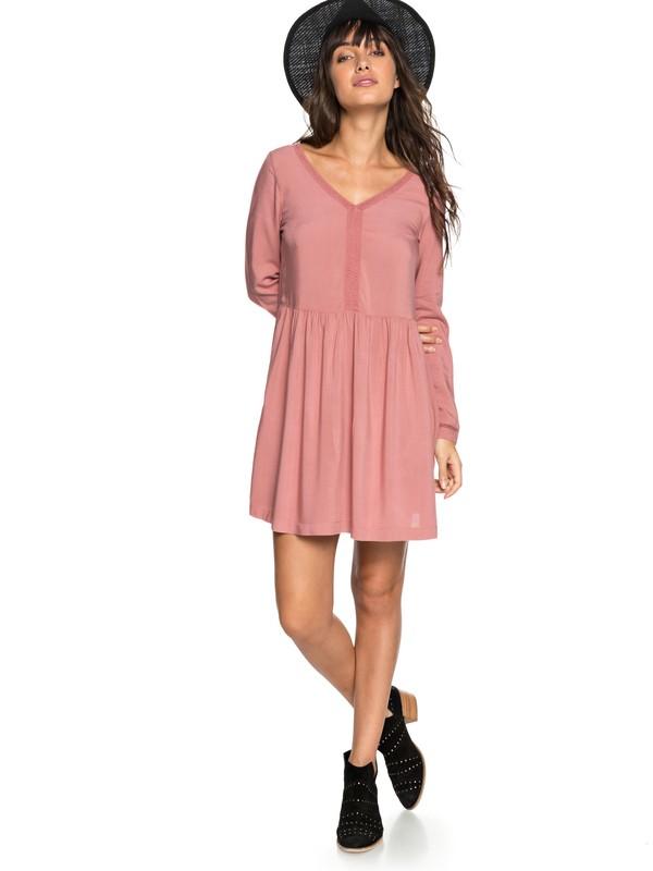 0 Feel Alone - Long Sleeve Dress for Women Pink ERJWD03247 Roxy