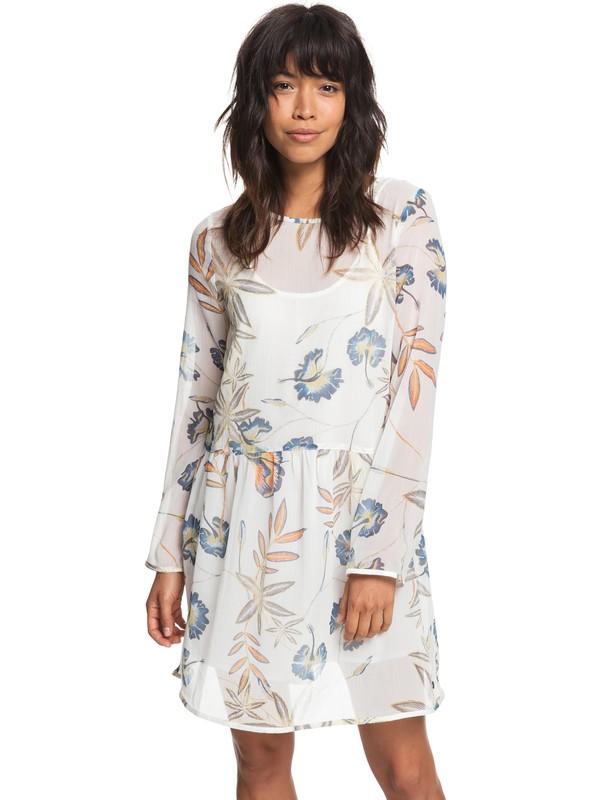 0 Amazing Wave Long Sleeve Dress White ERJWD03253 Roxy