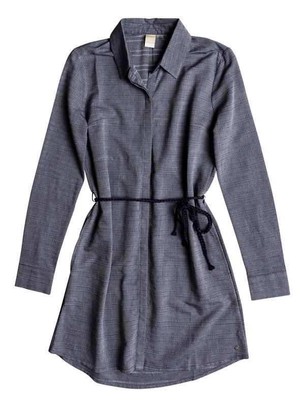 0 Crazy Whisper - Robe à manches longues pour Femme Bleu ERJWD03254 Roxy