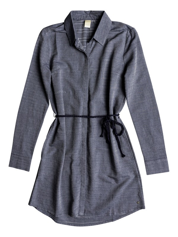 0 Crazy Whisper - Vestido camisero de manga larga para Mujer Azul ERJWD03254 Roxy
