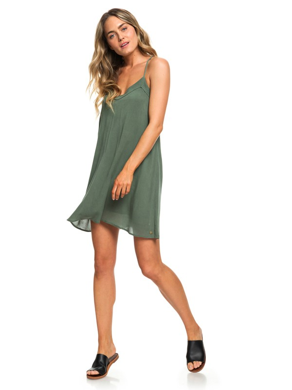 0 Off We Go - Strappy Dress for Women Green ERJWD03294 Roxy