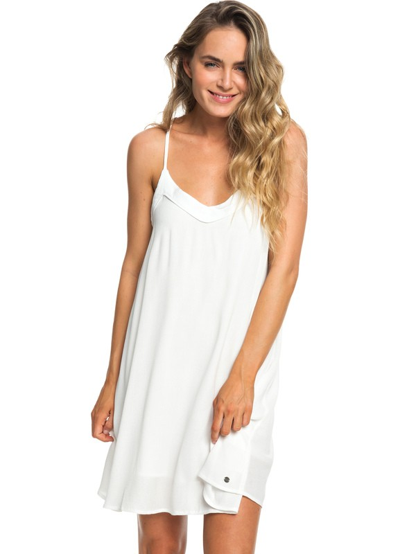 0 Off We Go Strappy Dress White ERJWD03294 Roxy