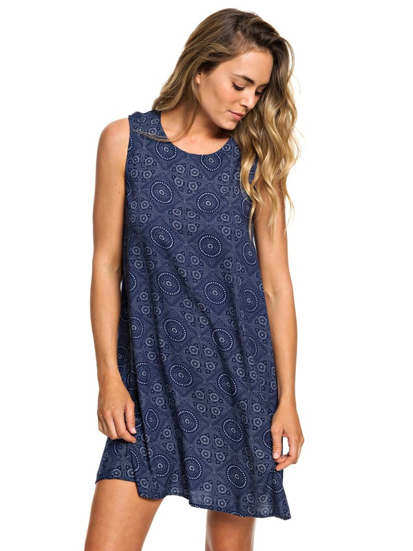 0 Harlem Vibes Sleeveless Dress Blue ERJWD03296 Roxy