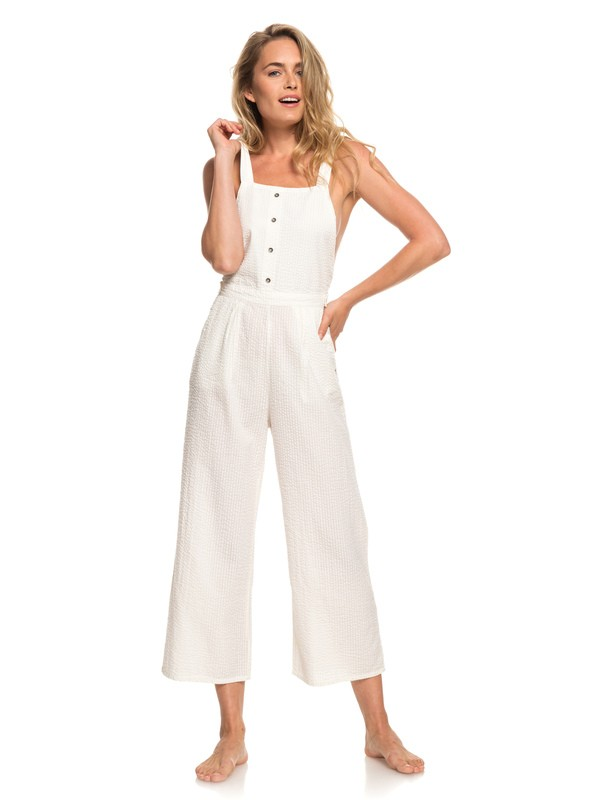 0 West Cozy Place Strappy Jumpsuit White ERJWD03301 Roxy