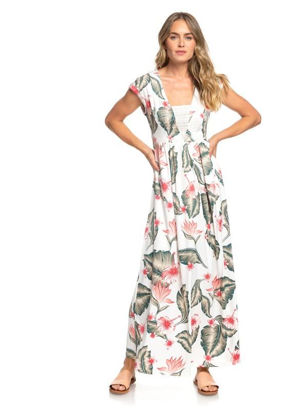 0 A Day At Tribeca - Robe longue sans manches pour Femme Blanc ERJWD03306 Roxy