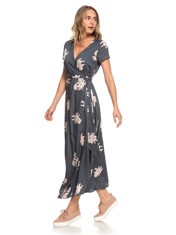 0 District Day Short Sleeve Maxi Dress  ERJWD03317 Roxy