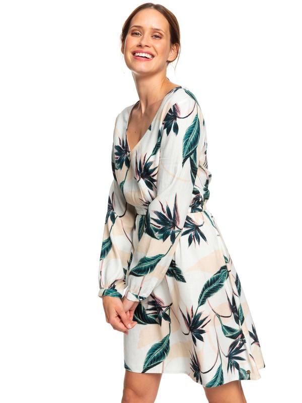 0 Heatin Up - Robe manches longues encolure en V pour Femme Blanc ERJWD03357 Roxy