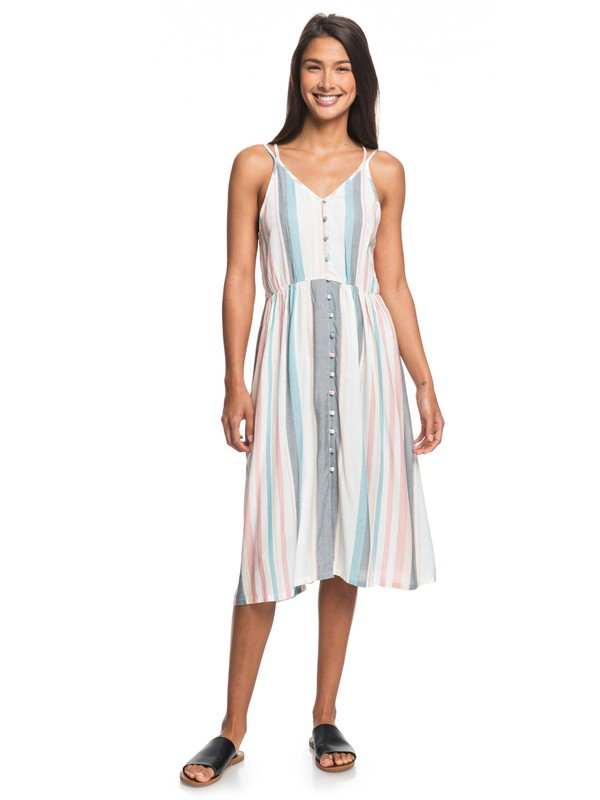 0 My Way To Coast Strappy Wrap Dress White ERJWD03371 Roxy