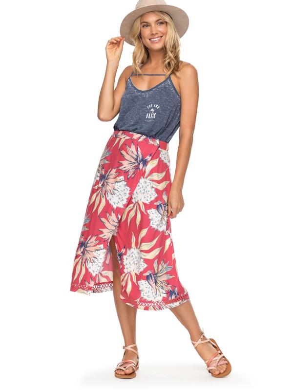 0 Endless Valley Midi Skirt Pink ERJWK03037 Roxy