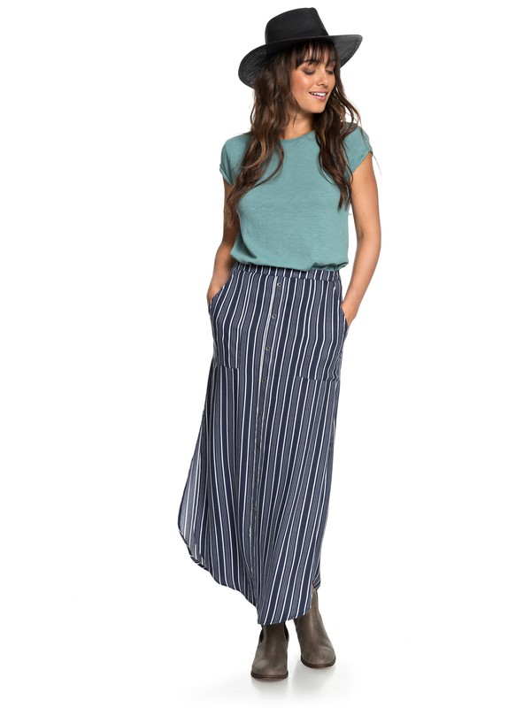 0 Sunset Islands Maxi Skirt Blue ERJWK03045 Roxy