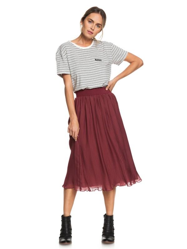 0 Lost Green Canyon Midi Skirt Red ERJWK03049 Roxy