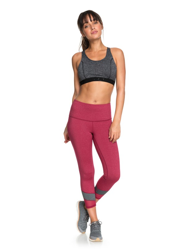 0 Mad About You Capri Yoga Leggings Red ERJWP03019 Roxy
