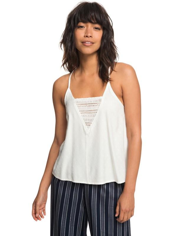 0 Color Spaces - Haut à bretelles pour Femme Blanc ERJWT03237 Roxy