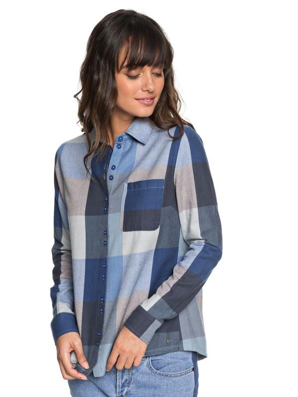0 Concrete Streets - Langarm-Hemd für Frauen Blau ERJWT03240 Roxy