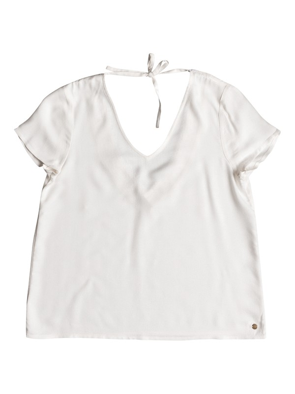 0 Bratan Sunset Short Sleeve Top White ERJWT03270 Roxy