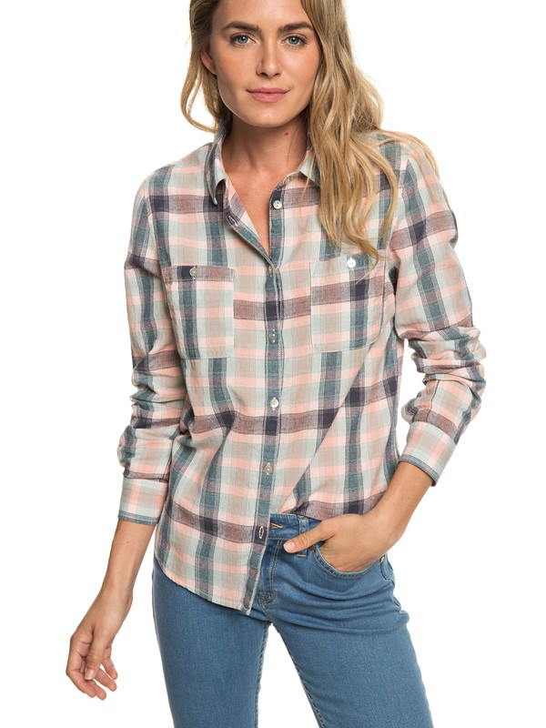 0 Setai Miami - Camicia a Maniche Lunghe da Donna Pink ERJWT03297 Roxy