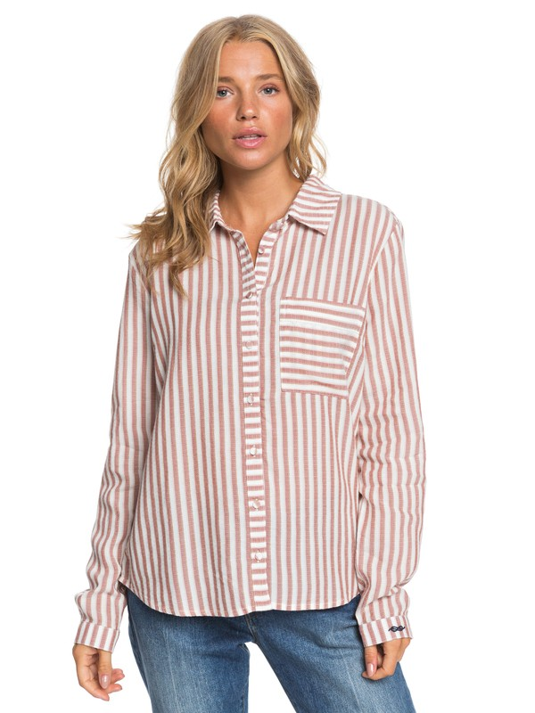 0 Seaside - Camicia a Maniche Lunghe da Donna White ERJWT03308 Roxy