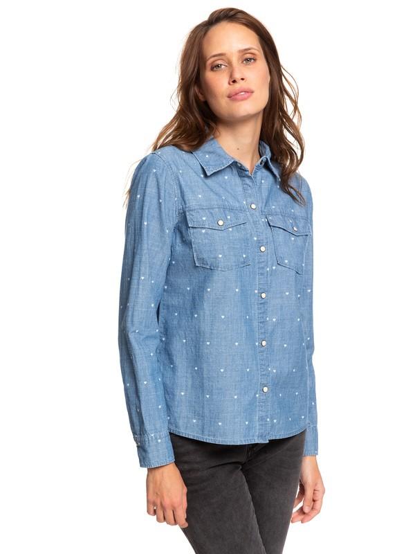0 Paradisiac Cascade - Camicia a Maniche Lunghe da Donna Blue ERJWT03341 Roxy
