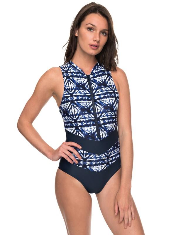 0287e87e8e 0 ROXY Fitness Colorblock - Maillot de bain une pièce pour Femme Bleu  ERJX103106 Roxy