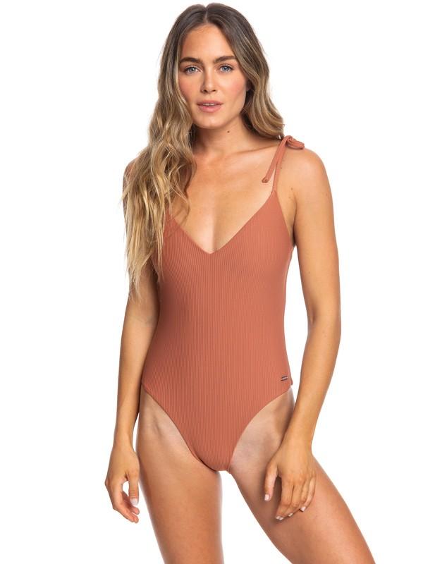 0 Sister One Piece High Leg Swimsuit Brown ERJX103178 Roxy