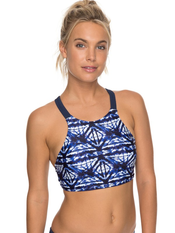 0 ROXY Fitness Bikini Top Blue ERJX303623 Roxy