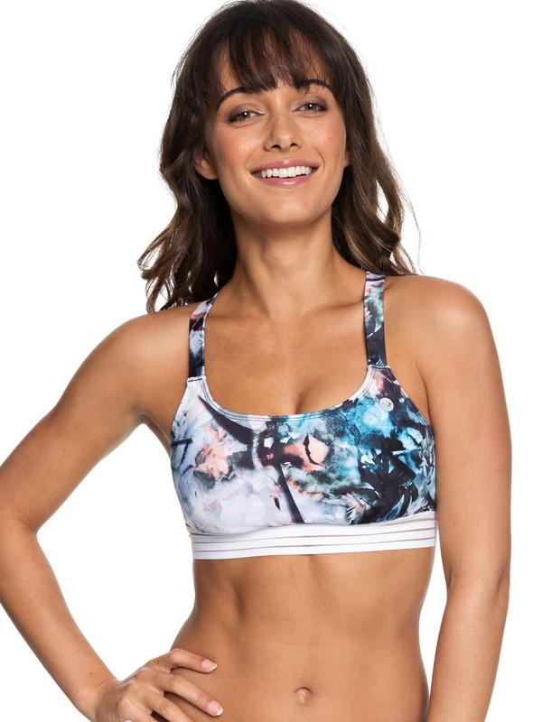 0 ROXY Fitness Sporty Bra Bikini Top  ERJX303746 Roxy