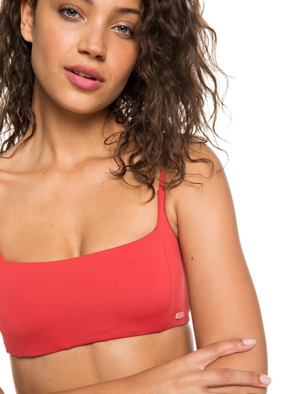 0 Softly Love Bralet Bikini Top Red ERJX303790 Roxy