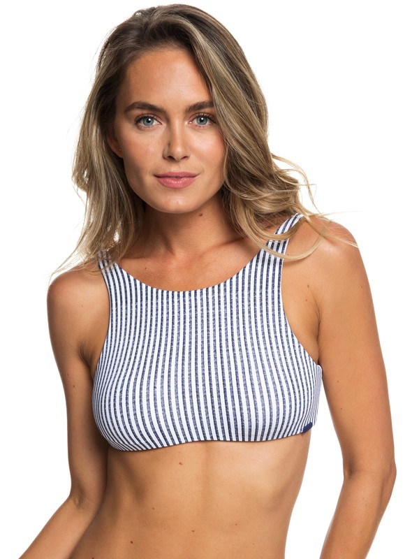 0 Softly Love D-Cup Crop Top Bikini Top Blue ERJX303795 Roxy