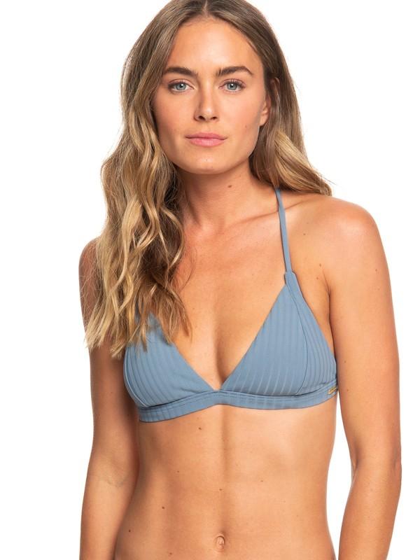 0 Color My Life Fixed Triangle Bikini Top Blue ERJX303857 Roxy