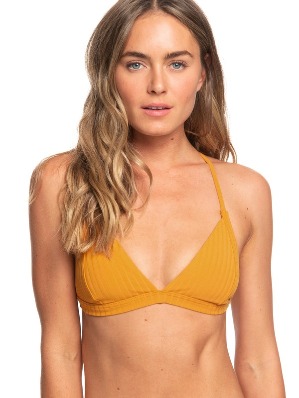0 Color My Life Fixed Triangle Bikini Top Orange ERJX303857 Roxy