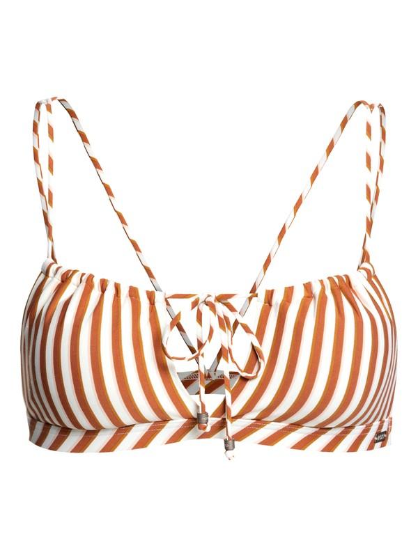 0 Sister Triangle Bikini Top White ERJX303895 Roxy