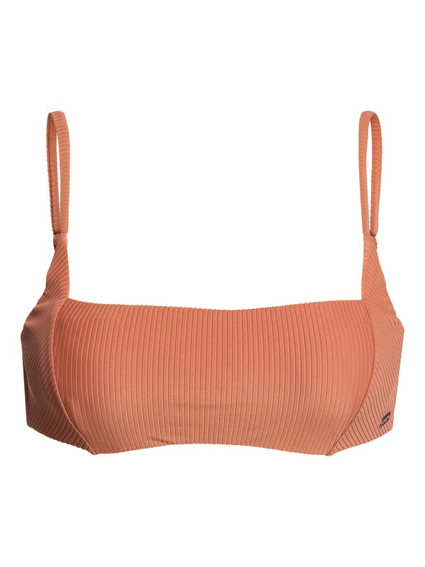 0 Sister Underwired Bralette Bikini Top Brown ERJX303900 Roxy