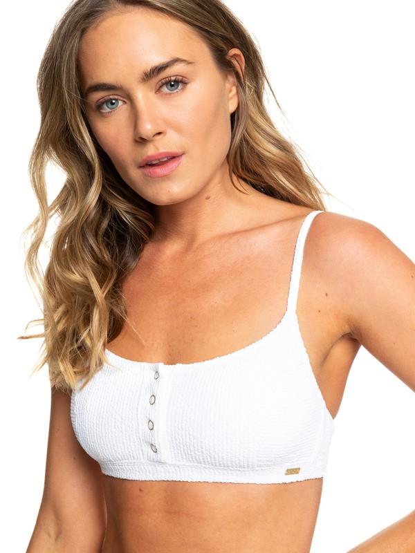 0 Sun Memory Bralette Bikini Top White ERJX303923 Roxy
