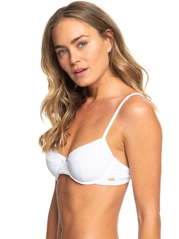 0 Sun Memory Underwired Bra Bikini Top White ERJX303924 Roxy