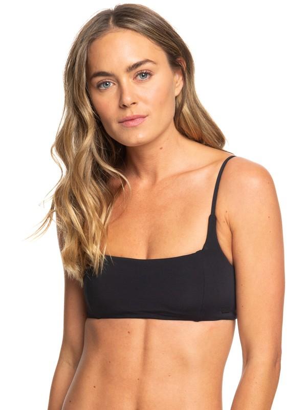 0 Beach Classics Bralette Bikini Top Black ERJX303928 Roxy
