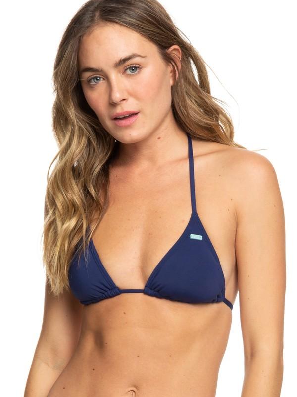 0 Beach Classics - Haut de bikini Tiki Tri pour Femme Bleu ERJX303952 Roxy