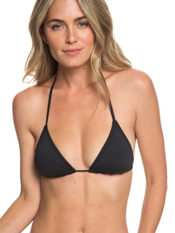0 Beach Classics - Haut de bikini Tiki Tri pour Femme Noir ERJX303952 Roxy