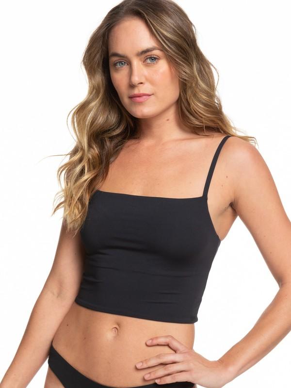 0 Beach Classics Tankini Bikini Top Black ERJX303960 Roxy