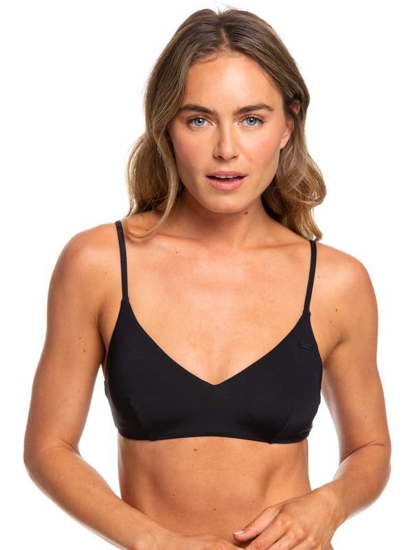 0 Beach Classics Athletic Tri Bikini Top Black ERJX304059 Roxy
