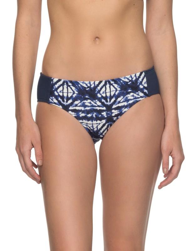 0 ROXY Fitness Shorty Bikini Bottoms Blue ERJX403536 Roxy