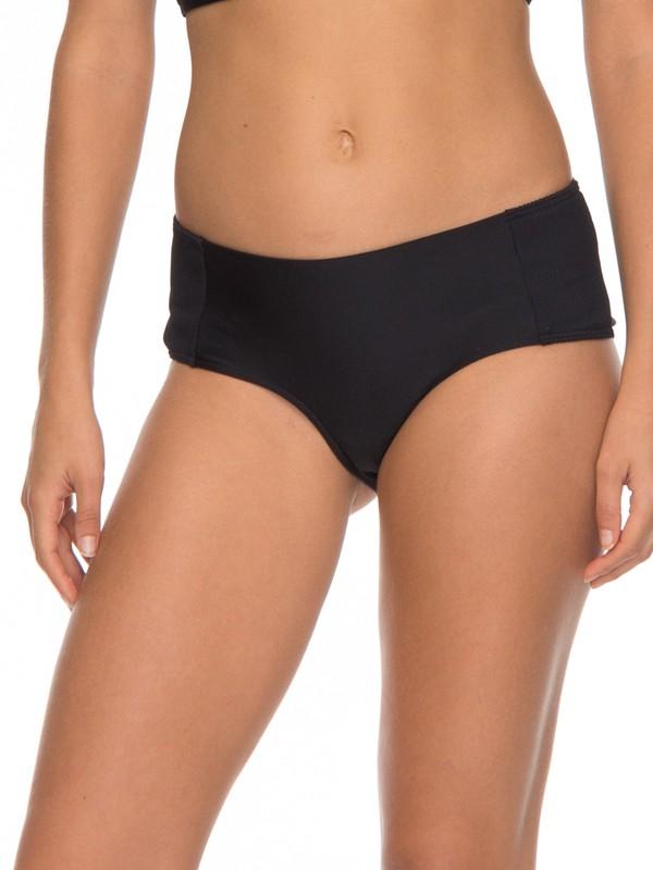 0 ROXY Fitness Shorty Bikini Bottoms Black ERJX403536 Roxy