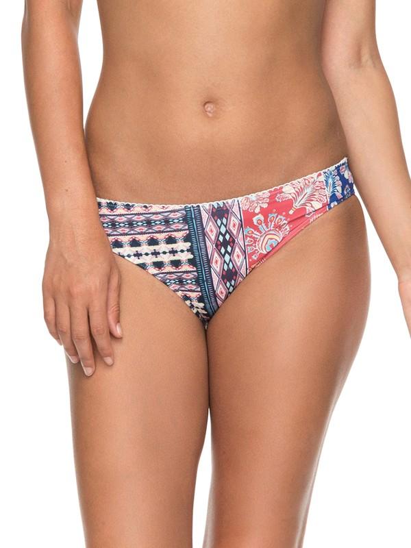 0 Bohemian Vibes Scooter Bikini Bottoms White ERJX403583 Roxy