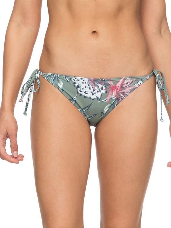 0 Little Bandits Tie Side Surfer Bikini Bottoms Green ERJX403587 Roxy