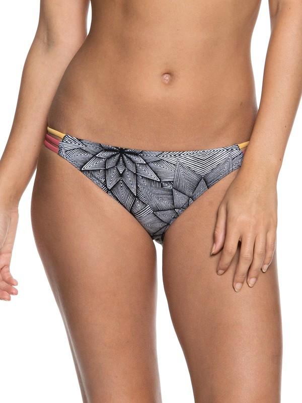 0 Pop Surf Erate Bottom Moderate Bikini Bottoms White ERJX403624 Roxy