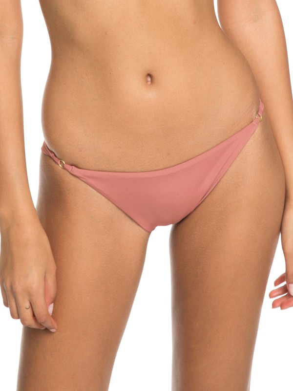 0 Softly Love Mini Bikini Bottoms Pink ERJX403627 Roxy