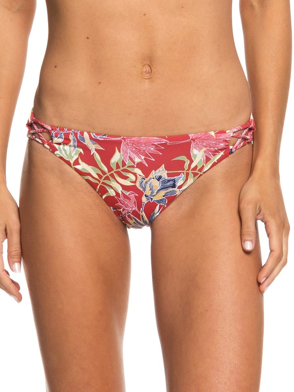 0 Softly Love Reversible Moderate Bikini Bottoms Red ERJX403655 Roxy