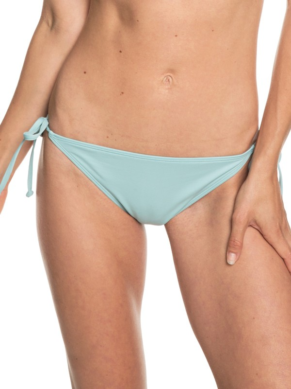 0 Beach Classics Tie-Side Bikini Bottoms Blue ERJX403674 Roxy