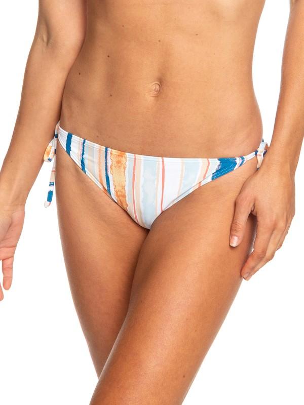 0 Beach Classics Tie-Side Bikini Bottoms White ERJX403682 Roxy